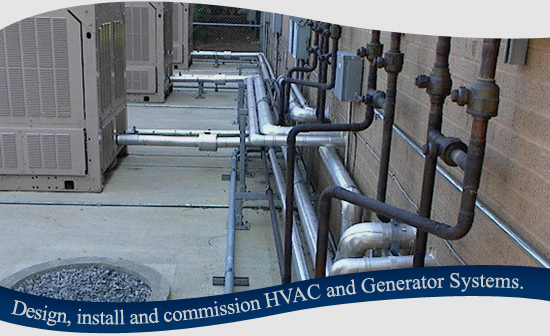 Design, install and commission HVAC and Generator